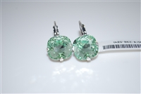 "Mariana ""Bijou"" Drop Earrings with Chrysolite Green Swarovski Crystals with .925 Silver Plating"
