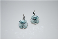 "Mariana ""Bijou"" Drop Earrings with Light Azura Swarovski Crystals from the Aruba Collection .925 Silver Plated"