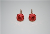 "Mariana ""Bijou"" Drop Earrings with Padparadscha Swarovski Crystals with Rose Gold Plating"