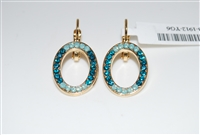 Mariana Circular Ivy Earrings in Yellow Gold Plating