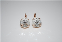 Mariana  Large Swarovski Crystal On a Clear Day Earrings in Rose Gold Plating