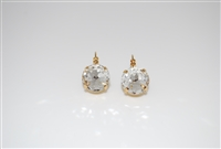 Mariana  Large Swarovski Crystal On a Clear Day Earrings in Yellow Gold Plating