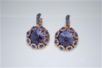 "Mariana ""XOXO""  Large Crystal Earrings from the Electra Collection in Rose Gold Plating"