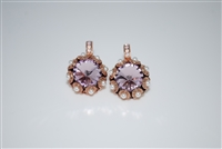 "Mariana ""XOXO"" Large Rivioli Crystal Earrings from the Antigua Collection in Rose Gold Plating"