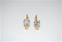 Mariana Princess Cut Earrings from the Champagne and Caviar Collection with Yellow Gold Plating