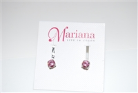 Mariana Studs with Small Swarovski Crystals in Light Rose and .925 Silver Plated