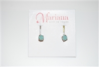 Mariana Studs with Small Swarovski Crystal Pacific Opal and .925 Silver Plated