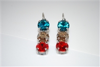 Mariana Triple Tier Earrings from the Tinsel Collection with Antiqued Silver Plating