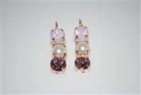 Mariana Triple Tier Style Earrings from the Jamaican Collection in Rose Gold Plating