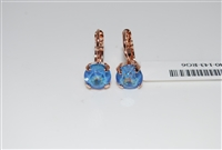 Mariana Blue Rose Gold Plated Small Swarovski Crystal Earrings