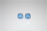 Mariana Swarovski Ocean Sun Kissed Crystal Rhodium Plated Post Earrings