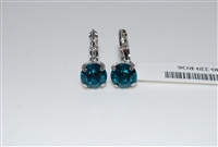 Mariana Zircon Rhodium Plated Small Swarovski Crystal Earrings