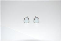 Mariana Swarovski White Opal Crystal .925 Silver Plated Post Earrings
