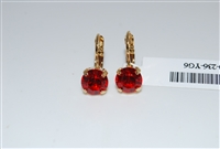 Mariana Yellow Gold Plated Orange Small Swarovski Crystal Earrings