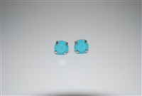 Mariana Swarovski Turquoise Crystal .925 Silver Plated Post Earrings