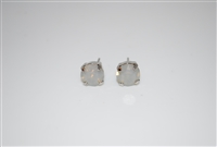 Mariana Swarovski Taupe Opal Crystal .925 Silver Plated Post Earrings