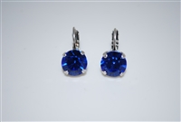 Mariana earrings with Sapphire Swarovski Crystals and .925 Silver Plated