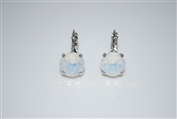 Mariana earrings with White Opal Swarovski Crystals and .925 Silver Plated