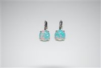 Mariana earrings with Swarovski Crystals Green Opal and .925 Silver Plated