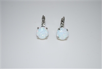 Mariana earrings with Swarovski Crystals White Opals and Rhodium Plated