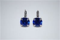"Mariana ""Monarch"" earring with Sapphire Swarovski Crystals in .925 Silver Plating"