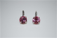 "Mariana ""Monarch"" earring with  Light Rose Swarovski Crystals and .925 Silver Plated"