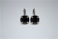 "Mariana ""Monarch"" earring with Jet Swarovski Crystals and .925 Silver Plated"