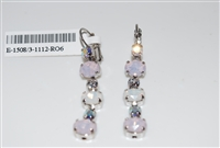 Mariana Snowflake Dangling Earrings with Swarovski Crystals and Rhodium Plating