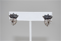 Mariana Post/Stud Earrings with Swarovski Heart and Tiara from the Ice Collection and Silver Plating