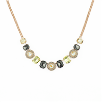 "Emerald Cut and Cluster Necklace ""Painted Lady"""