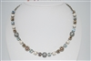 "Mariana 13"" Glisten Statement Necklace from the Champagne and Caviar Collection with Swarovski Crystals and .925 Silver Plated"