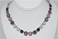 Mariana Statement Necklace from the Lavender Collection with Swarovski Crystals and Rhodium Plated