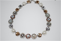 Mariana Statement Necklace from the Champagne and Caviar Collection with Swarovski Crystals and .925 Silver Plated