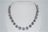 "Mariana ""Sophia"" 19"" Statement Flower Necklace from A Clear Day Collection with Swarovski Crystals and .925 Silver Plated"