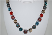 Mariana Statement Necklace from the Tinsel Collection with Swarovski Crystals and .925 Sterling Silver Plating