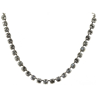 "Mariana ""Bette"" 18"" Necklace from On a Clear Day Collection with Clear Swarovski Crystals and .925 Silver Plated"