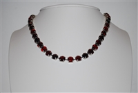 "Mariana ""Bette"" 18"" Necklace from the Lady in Red Collection with Swarovski Crystal and .925 Silver Plated"