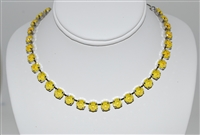 "Mariana ""Bette"" Necklace with Sunshine Sun Kissed Swarovski Crystals with Rhodium Plating"