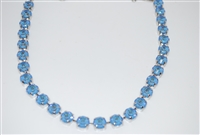 "Mariana ""Bette"" Necklace with Ocean Sun Kissed Swarovski Crystals with Rhodium Plating"