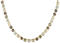 "Mariana ""Bette"" 18"" Necklace Tequila Sunrise Collection Swarovski Crystal and Yellow Gold Plated"