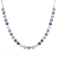 "Mariana ""Bette"" 8"" Blue Morpho Necklace with Swarovski Crystals and Rhodium Plated"