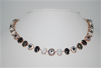 Mariana Statement Necklace from the Zula Collection with Swarovski Crystal and Rose Gold Plated