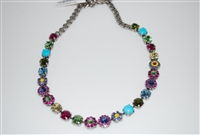 Mariana Cuban Swarovski Crystal Necklace in Silver Plating