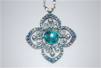 Mariana Clover Pendant with Swarovski Crystals from the Italian Ice Collection and .925 Silver Plating