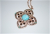 Mariana Clover Pendant with Swarovski Crystals from the Zanzibar Collection and Rose Gold Plating