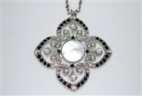 Mariana Clover Pendant with Swarovski Crystals from the Blizzard Collection and Rhodium Plating
