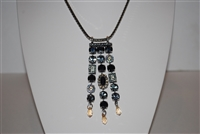 "Mariana ""Waterfall"" 27 Necklace with Swarovski Crystals from the Adeline Collection and .925 Silver Plated"