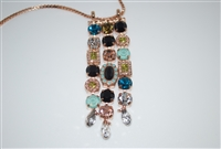 "Mariana ""Waterfall"" 27 Necklace with Swarovski Crystals from the Cannoli Collection and Rose Gold Plated"