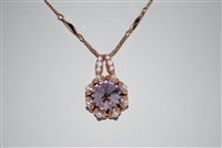 "Mariana ""XOXO"" Large Rivioli Crystal Pendant Necklace from the Antigua Collection in Rose Gold Plating"