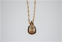Mariana Tiara Drop Pendant with Swarovski Crystals from Adeline Collection in Yellow Gold Plating